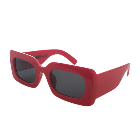 Rhubic Square Sunglasses in Ruby Red