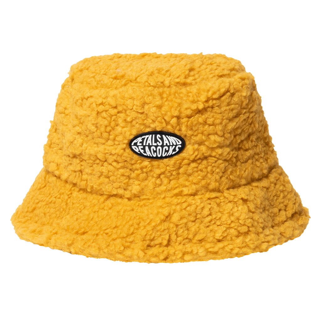 Sherpa Bucket Hat in Mustard