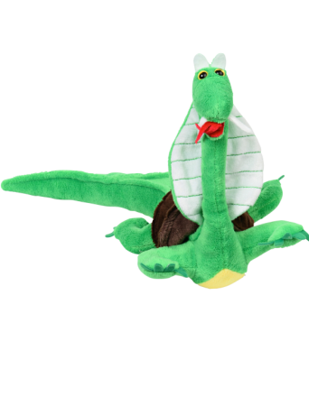 baby Snurtlegator = baby snake + turtle + alligator stuffed animal [front view]