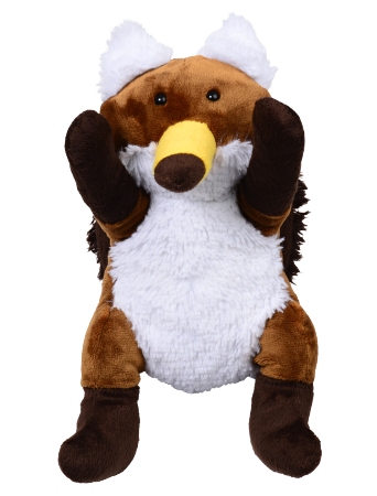 Hawx = hawk + fox stuffed animal [front view]