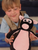 Piguin = pig + penguin stuffed animal [friend view]