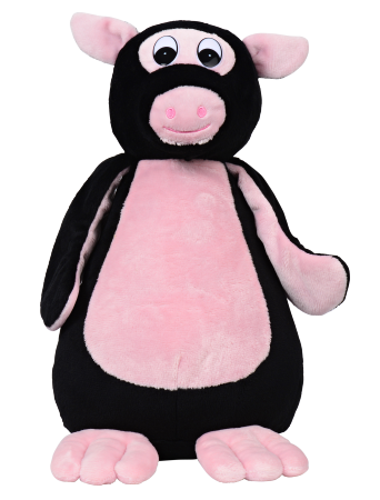 Piguin = pig + penguin stuffed animal [front view]