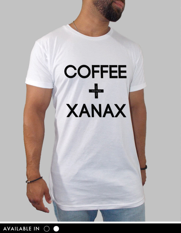 Coffee and Xanax Long Body Scooped T Shirt
