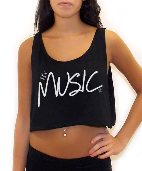 All About The Music Crop Tank Top - Team Inmind - 7