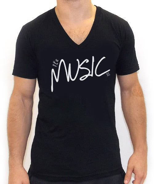 All About The Music V Neck Tee - Team Inmind - 2