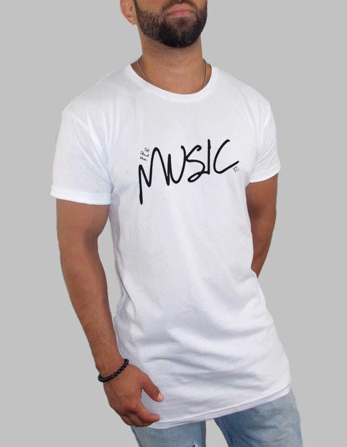 All About The Music Long Body Scooped T Shirt