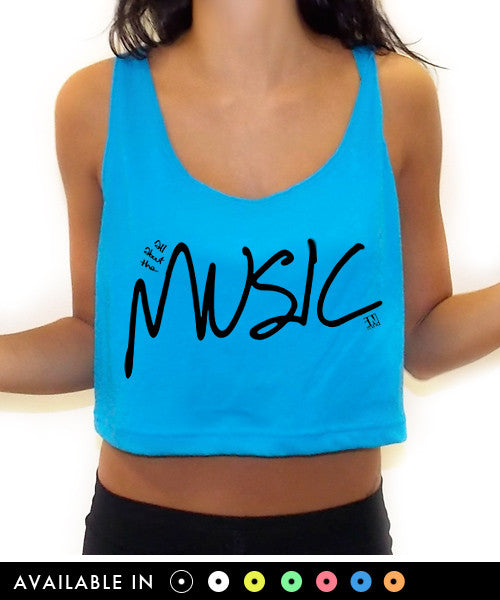 All About The Music Crop Tank Top - Team Inmind - 1