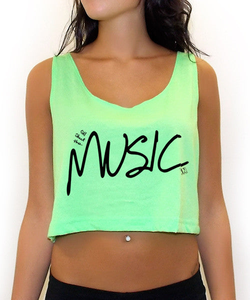 All About The Music Crop Tank Top - Team Inmind - 2