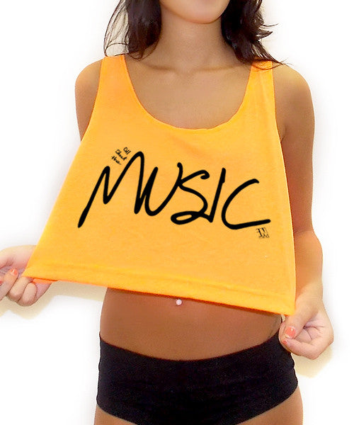 All About The Music Crop Tank Top - Team Inmind - 5