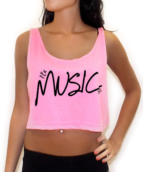 All About The Music Crop Tank Top - Team Inmind - 3