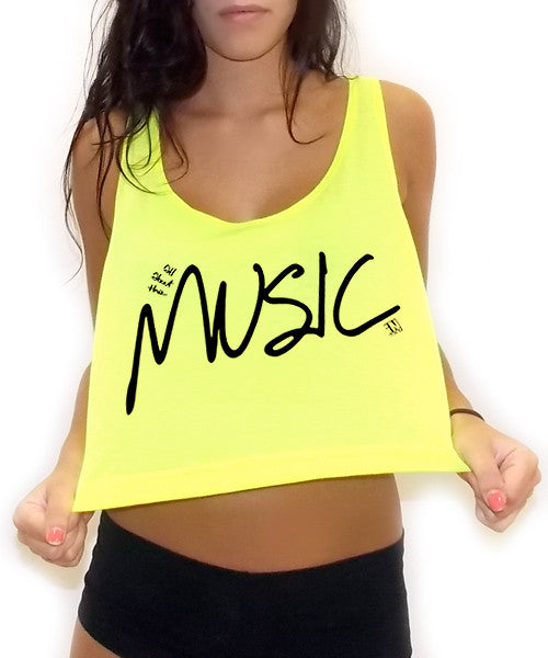 All About The Music Crop Tank Top - Team Inmind - 4