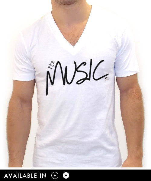 All About The Music V Neck Tee - Team Inmind - 1