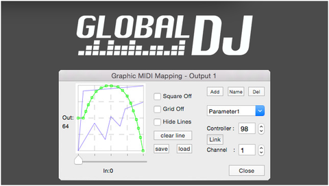 Global DJ MIDI Gloves Controllers | GRAPHIC MIDI MAPPING (Free Software)