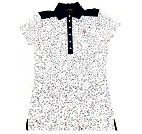 Ariat Ladies Prix Fashion Polo Shirt Fox Print