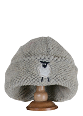 Children's Embroidered Dangly Sheep Embroidered Sherpa Fleece Hat