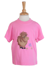 Cuddle Pony Children's Embroidered Pink T-Shirt