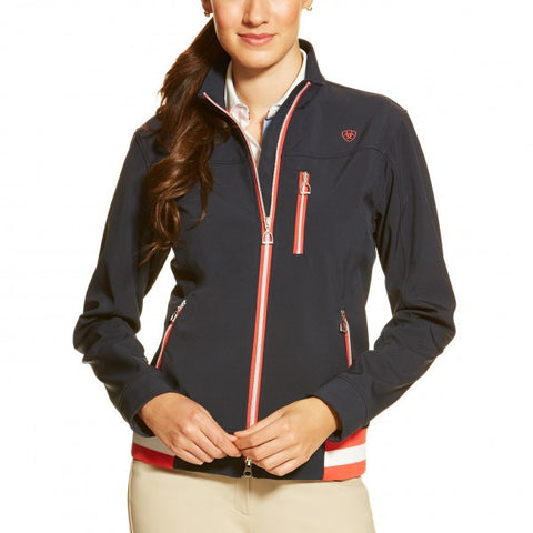 Ariat Ladies Egan soft shell style jacket in Navy