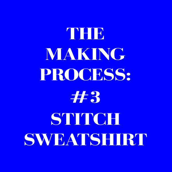 Stitch pattern sweatshirt making process