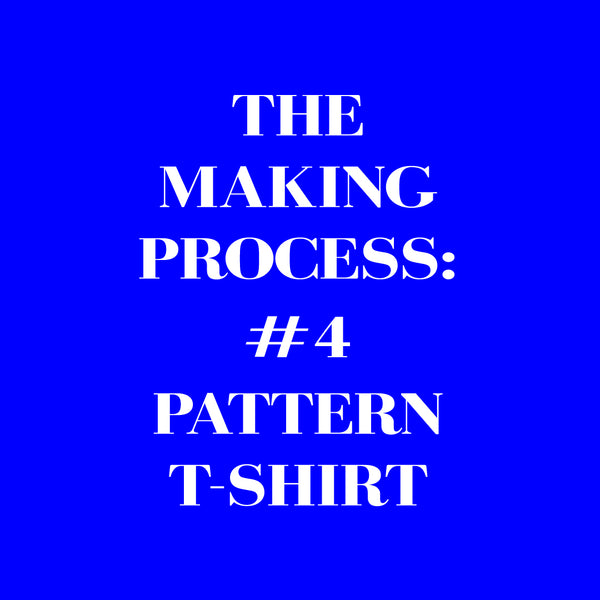 Screen printed all over pattern t-shirt making process