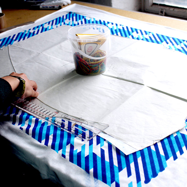 Screen printed all over pattern t-shirt making process 6