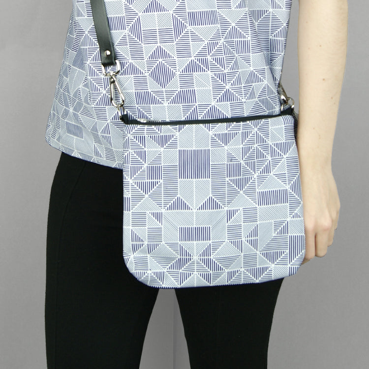 Bespoke lines shoulder bag the pattern guild