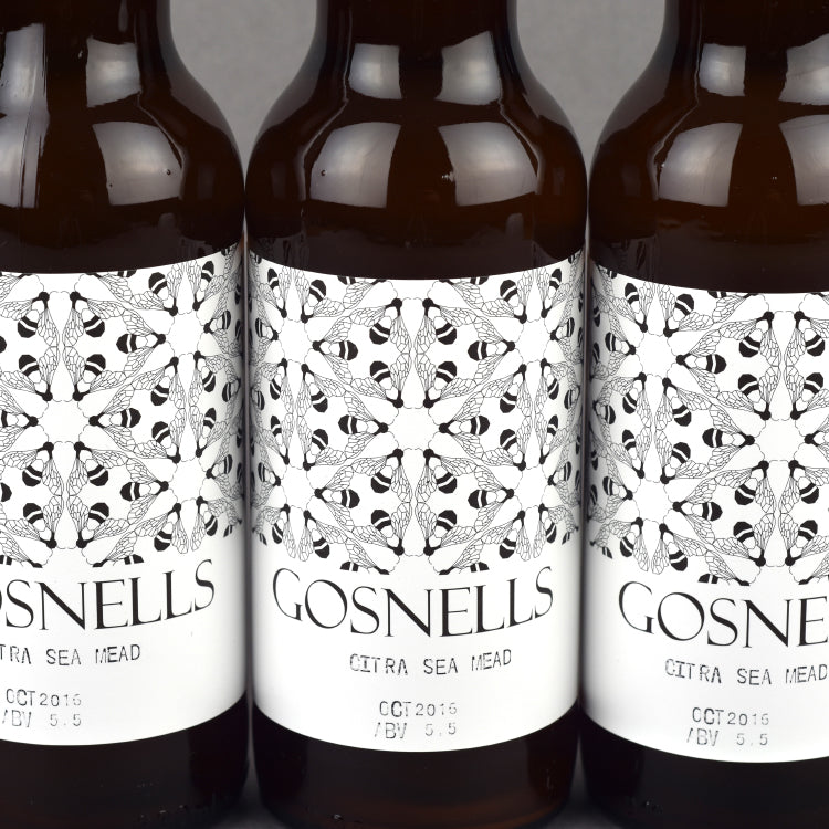 Gosnells Mead special brew bottle label Close up