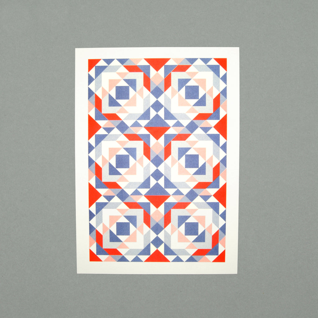 The Pattern Guild Collection 2014 mosaic pattern riso print