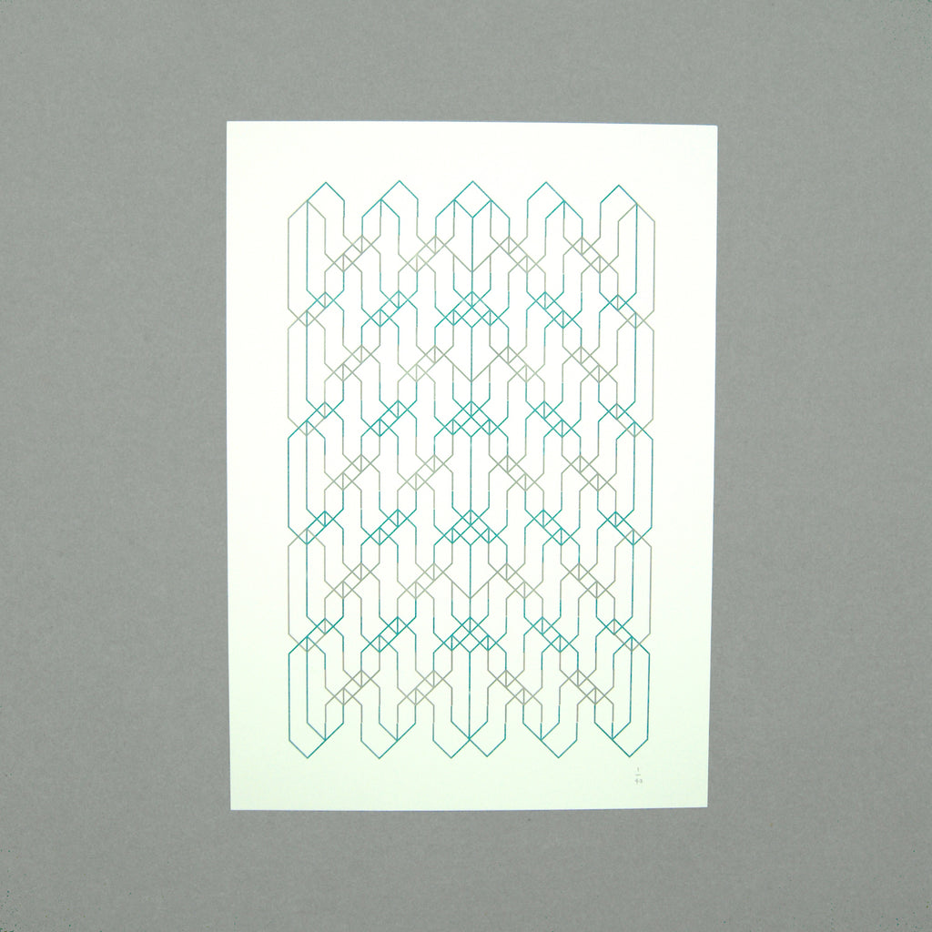 The Pattern Guild Collection 2014 tramlines pattern riso print