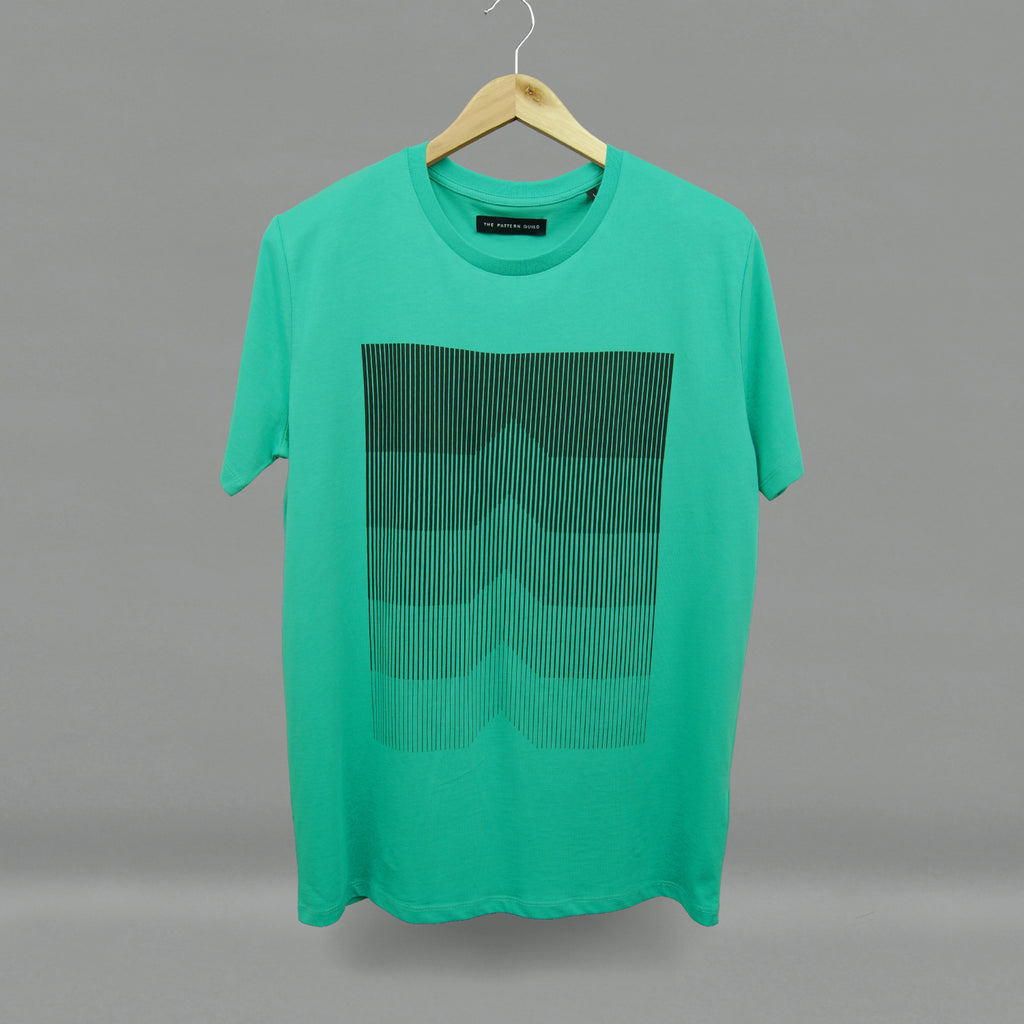 The Pattern Guild Collection 2015 gradient pattern t-shirt green
