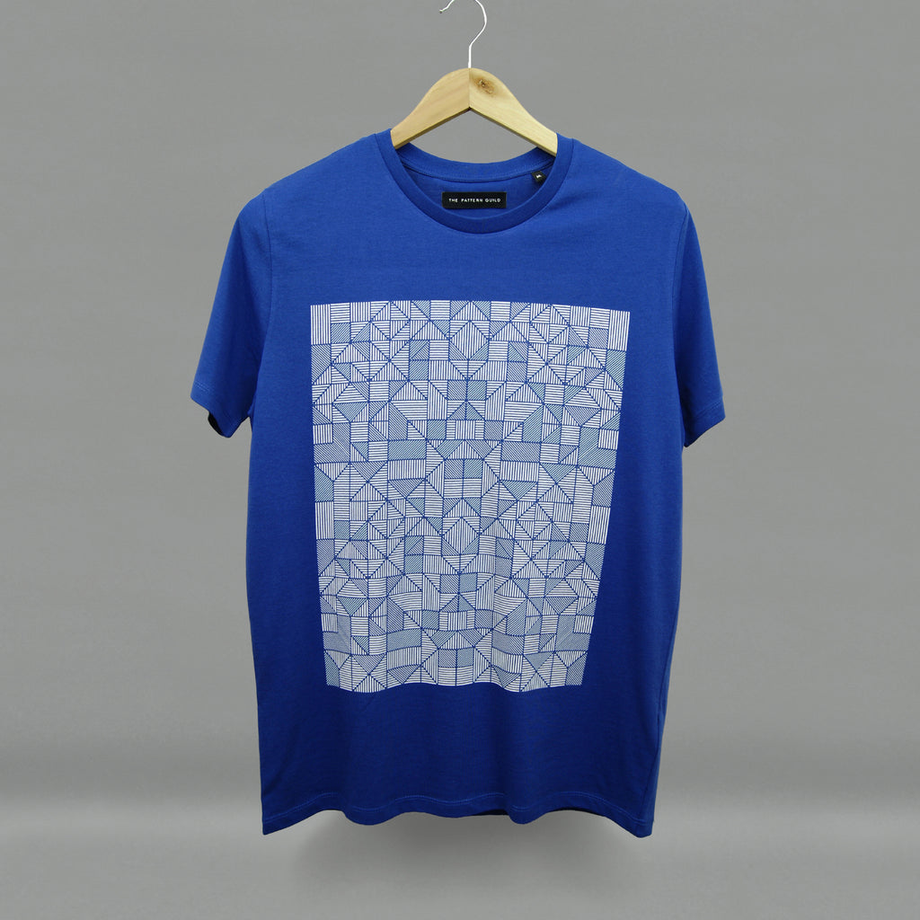 The Pattern Guild Collection 2015 lines pattern t-shirt blue