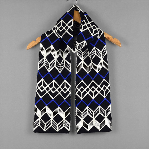 Finland Pattern Scarf Black/Blue