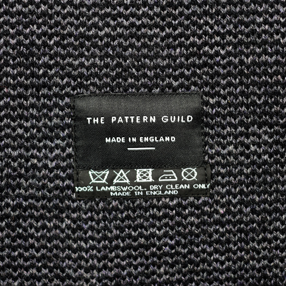Pockets Pattern Lambswool Scarf Grey/Black