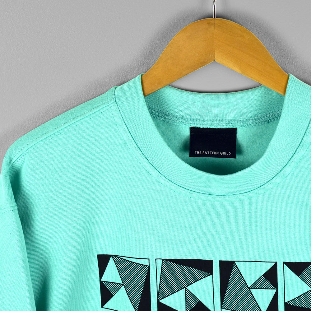 Pyramid Pattern Sweatshirt