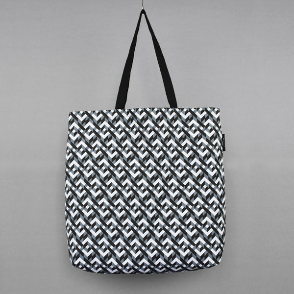 Large Chains Pattern Shopping Bag