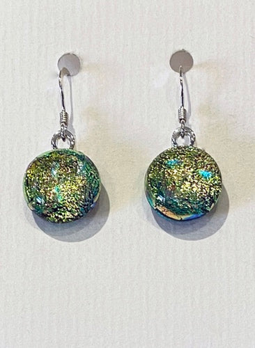 Dichroic Glass Earrings 1