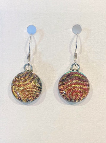 Dichroic Glass Earrings 10
