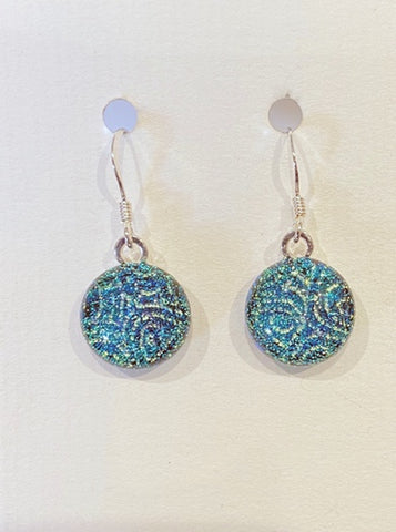 Dichroic Glass Earrings 2