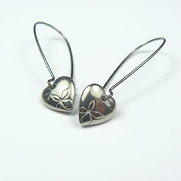 Beach Heart Hook Earrings