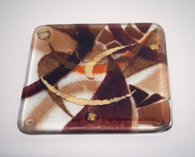 Abstract Coaster (Brown)