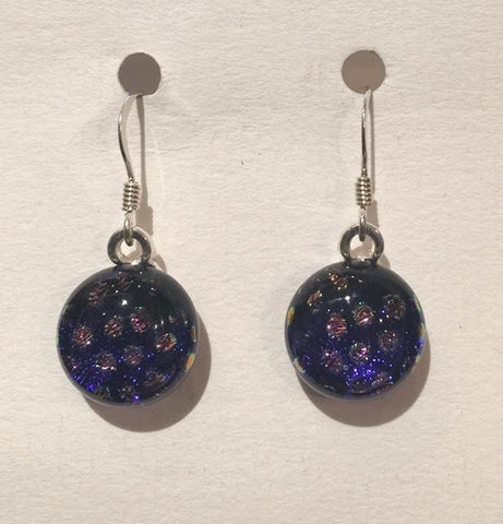 Dichroic Glass Earrings 17
