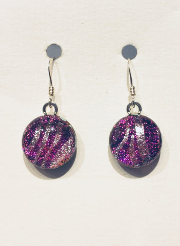 Dichroic Glass Earrings 22