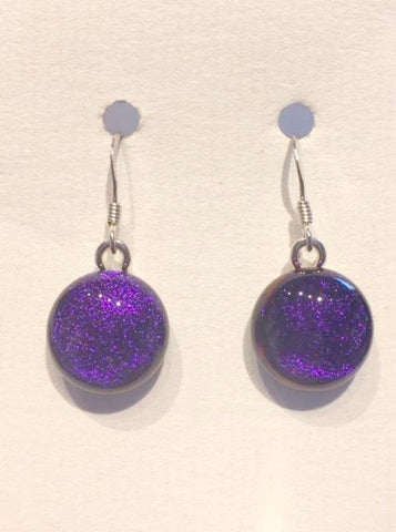 Dichroic Glass Earrings 23