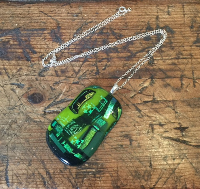 Green Glass Pendant (Large)