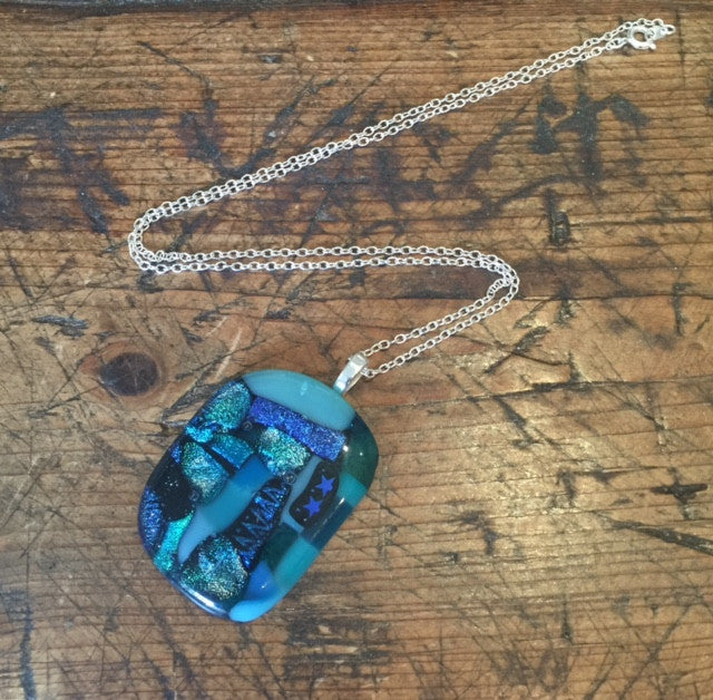 Turquoise Glass Pendant (Large)