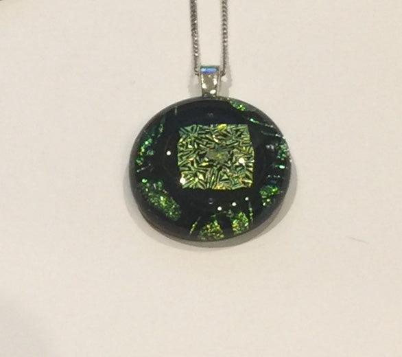 Lime Green Pendant on Black (small)