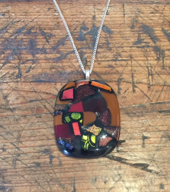 Multi-coloured Glass Pendant (Large)