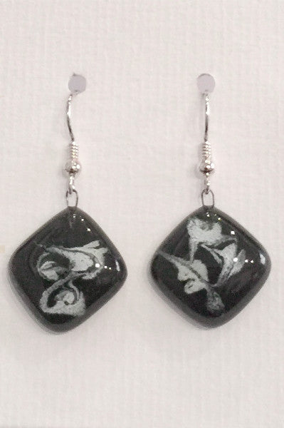 Painted Earrings (Black and White)