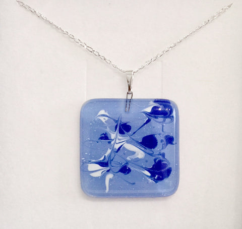 Light Blue-White Painted Pendant