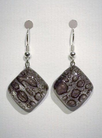 Bubble Round Earrings 2 (Brown)