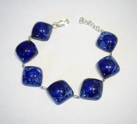 Glass Bubble Bracelet 2 (Dark Blue)